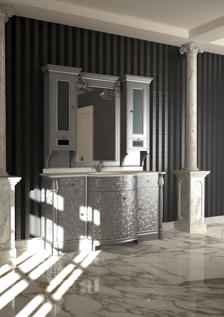 Lacquered vanity unit with mirror ELBA CM16E - LA BUSSOLA