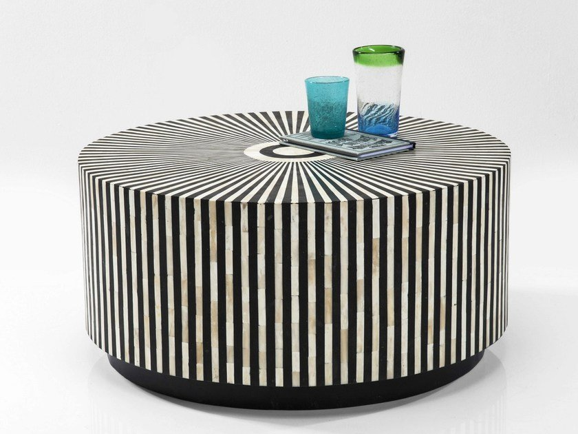 Low round chipboard coffee table ELECTRA by KARE-DESIGN
