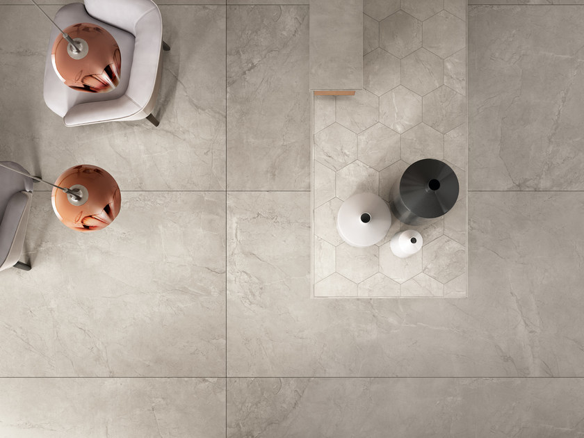 Indoor porcelain stoneware wall/floor tiles ELEMENTS LUX SILVER GREY - CERAMICHE KEOPE