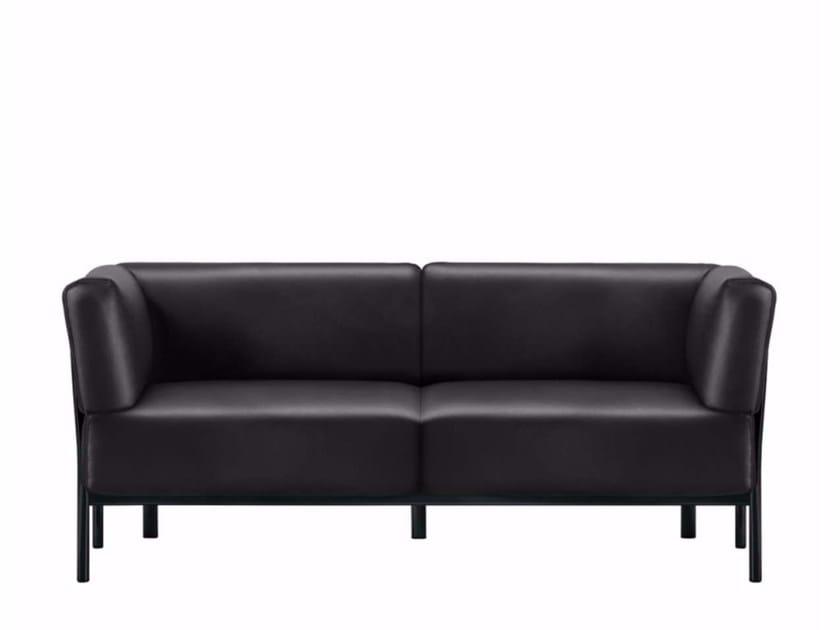 2 seater leather sofa ELEVEN - 861 | Leather sofa - Alias