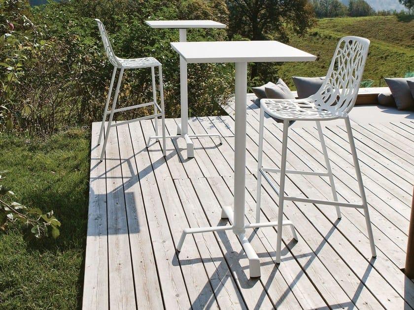 Aluminium table base with 4-spoke base ELICA | Table base - FAST