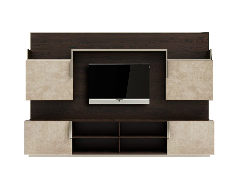 Parete attrezzata in legno massello con porta tv ELITE by Capital Collection by Atmosphera ...