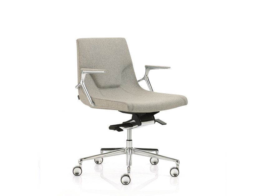 Low back executive chair with 5-spoke base with armrests ELLE 02 | Low back executive chair - Emmegi