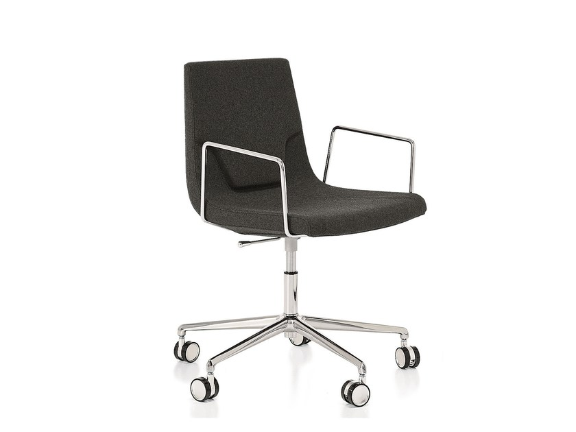 Height-adjustable swivel task chair with armrests ELLE 48 | Height-adjustable task chair - Emmegi