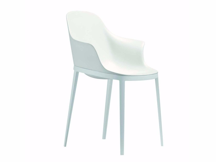 Polyurethane chair with armrests ELLE ARM - 073 | Polyurethane chair - Alias