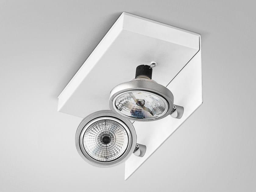 Adjustable ceiling metal spotlight ELLE | Metal spotlight - PANZERI