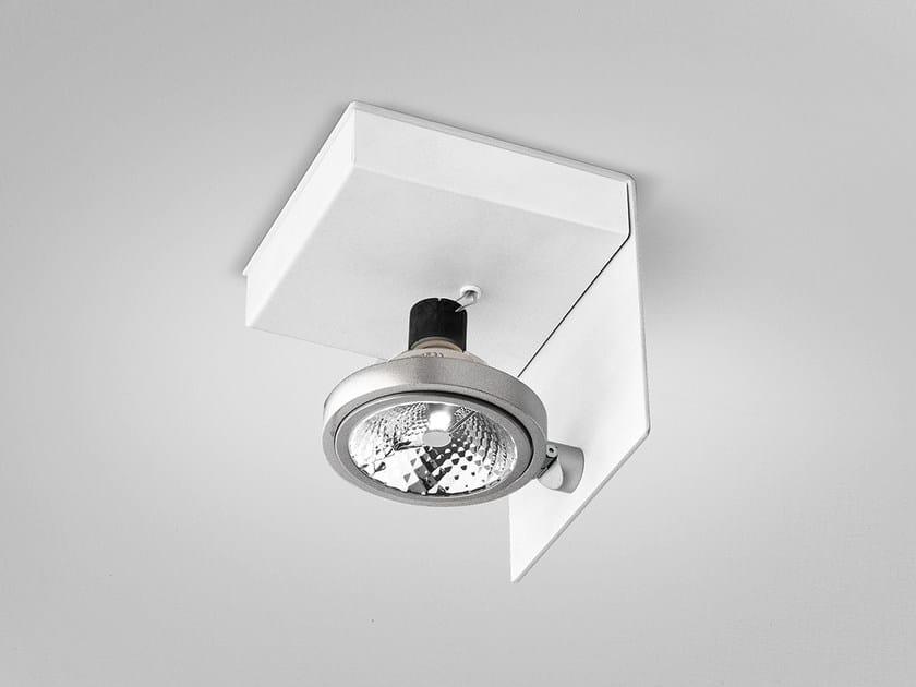 Adjustable ceiling metal spotlight ELLE | Adjustable spotlight by PANZERI