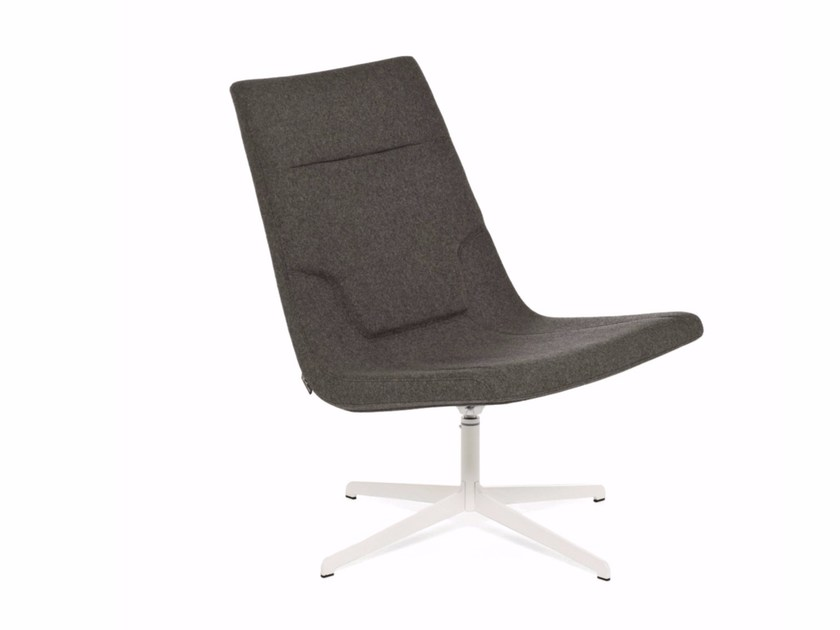 Upholstered easy chair with 4-spoke base ELLE LOUNGE | Upholstered easy chair - Emmegi