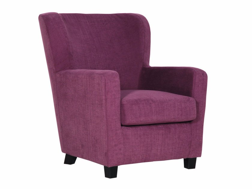 Upholstered fabric armchair with armrests ELLEN - SITS