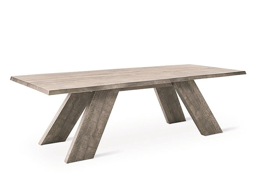 Rectangular wooden table ELWOOD by Natisa