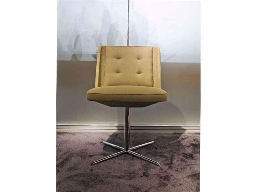 Upholstered fabric chair with 4-spoke base EMBRACE | Chair with 4-spoke base - ESTEL GROUP
