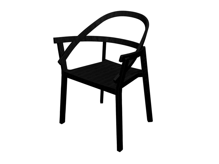 Stackable chair EMBRASSE - Driade