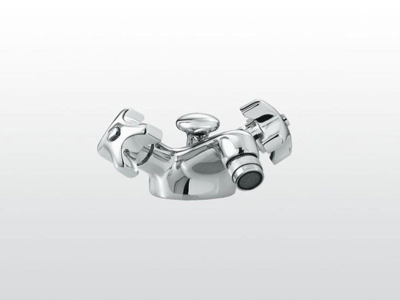 Chrome-plated bidet tap with swivel spout EMISFERO | 3604 - RUBINETTERIE STELLA