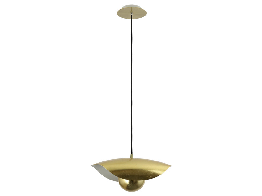 Indirect light metal pendant lamp EMOTION GOLD - Hind Rabii