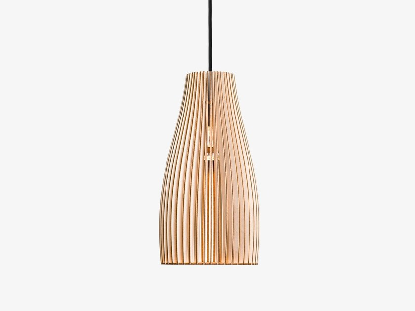 Plywood pendant lamp ENA by IUMI