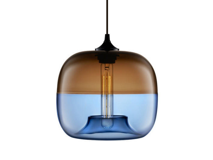 LED handmade blown glass pendant lamp ENCALMO-STAMEN - Niche Modern