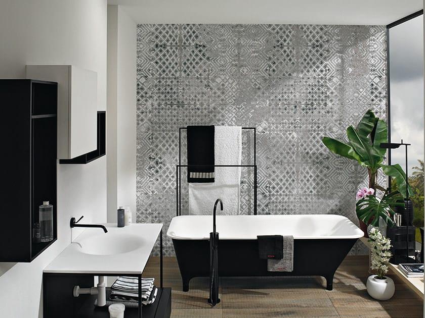 Motif panoramic wallpaper ENGRAVED - Inkiostro Bianco