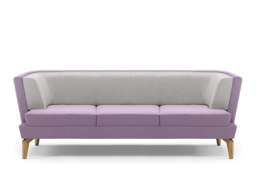Upholstered 3 seater sofa ENTENTE | 3 seater sofa - Boss Design