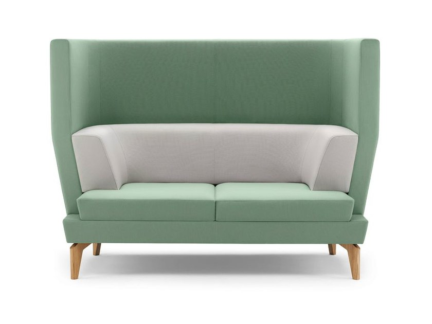Upholstered 2 seater high-back sofa ENTENTE | High-back sofa - Boss Design