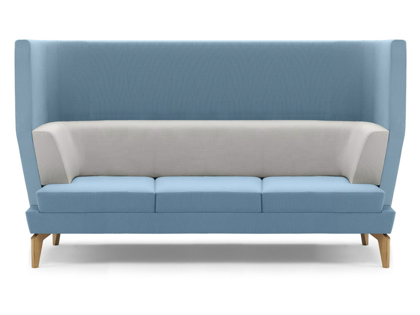 Upholstered 3 seater high-back sofa ENTENTE | High-back sofa - Boss Design