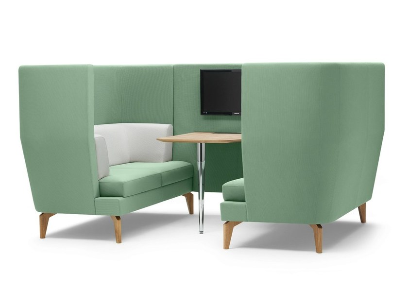 Wall-mounted fabric meeting pod ENTENTE | Office booth - Boss Design