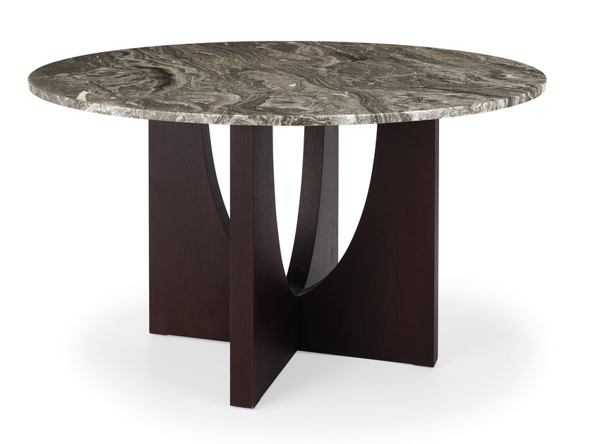 Round dining table ENZO | Concrete and Cement-Based Materials table by HMD INTERIORS