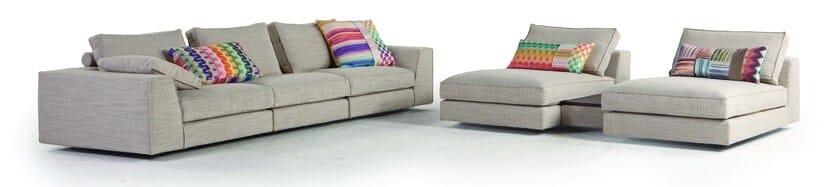 divano sfoderabile in tessuto eole roche bobois. Black Bedroom Furniture Sets. Home Design Ideas
