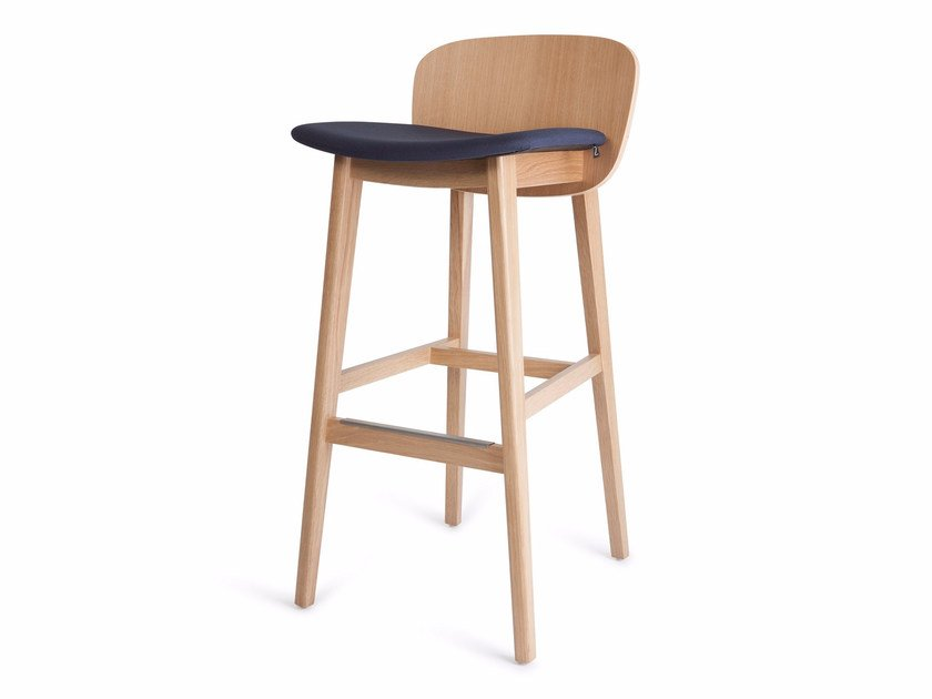 High upholstered fabric stool with footrest EPIC KL 82 03 - Z-Editions