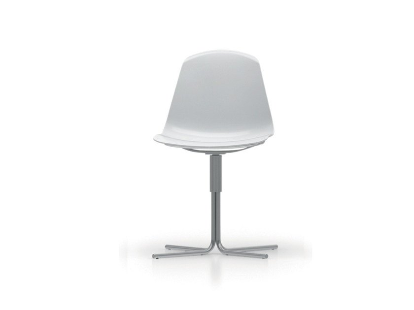 Polypropylene chair with 4-spoke base EPOCA | Chair with 4-spoke base - Luxy