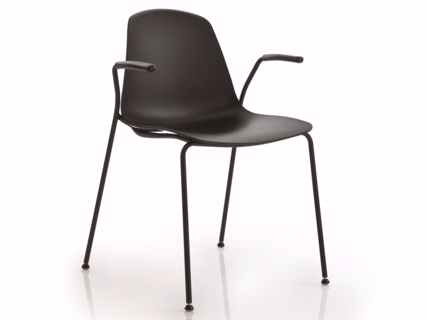 Stackable chair with armrests EPOCA | Chair with armrests - Luxy