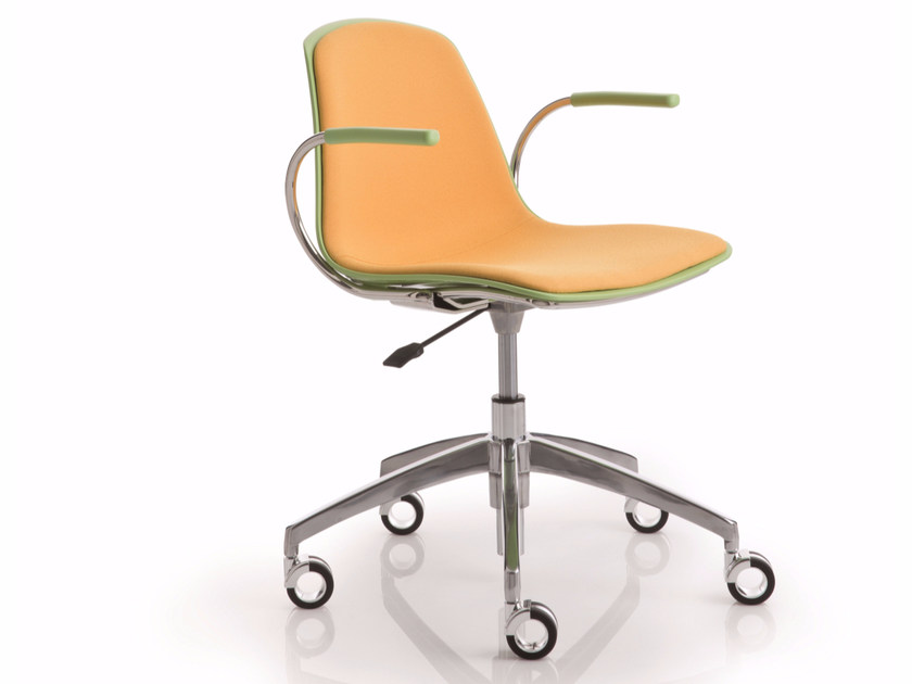 Height-adjustable chair with 5-spoke base with casters EPOCA | Height-adjustable chair - Luxy