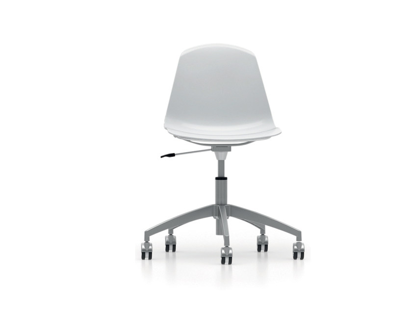 Height-adjustable polypropylene chair with 5-spoke base with casters EPOCA | Height-adjustable chair - Luxy