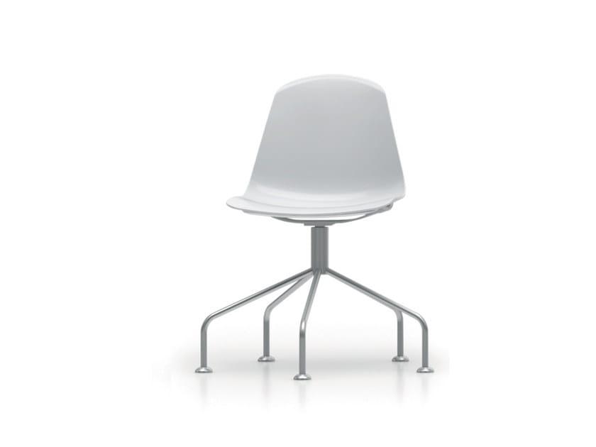 Trestle-based polypropylene chair EPOCA | Trestle-based chair - Luxy