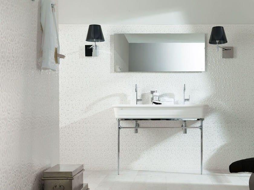 Lavabo a consolle con porta asciugamani EPOQUE | Lavabo doppio - Systempool