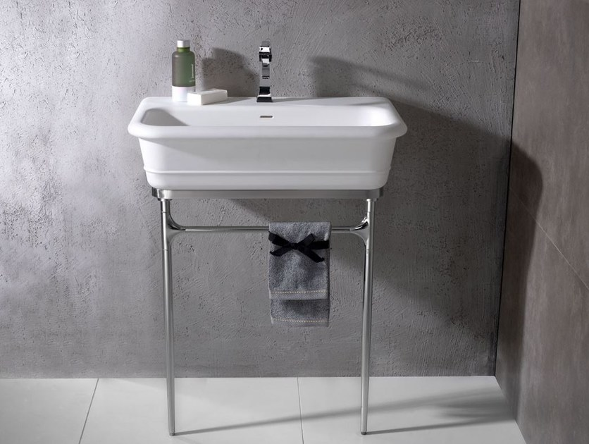 Console washbasin with towel rail EPOQUE | Washbasin with towel rail - Systempool