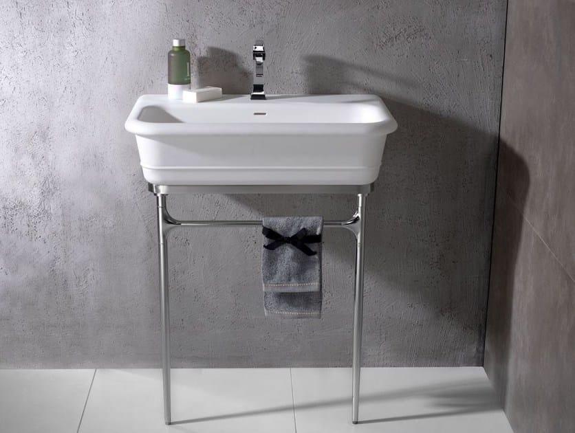 Lavabo a consolle con porta asciugamani EPOQUE | Lavabo con porta asciugamani - Systempool