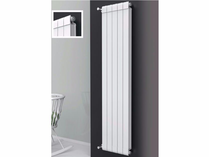 Hot-water vertical wall-mounted extruded aluminium decorative radiator EQUALIS - Radiatori2000