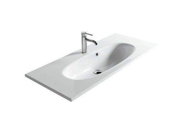 Ceramic washbasin ERGO - 105 CM by GALASSIA