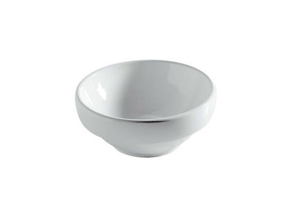 Inset round ceramic washbasin ERGO - 38 CM - GALASSIA