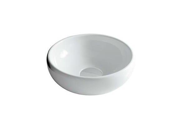 Countertop round ceramic washbasin ERGO - 42 CM - GALASSIA