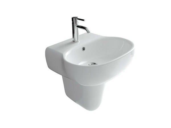 Wall-mounted ceramic washbasin ERGO - 55 CM - GALASSIA