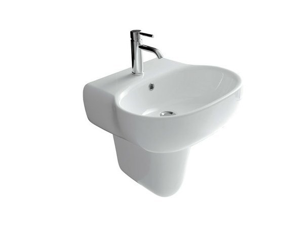 Wall-mounted ceramic washbasin ERGO - 70 CM - GALASSIA