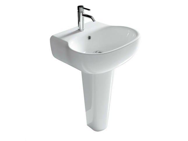 Pedestal ceramic washbasin ERGO - 70 CM | Pedestal washbasin - GALASSIA