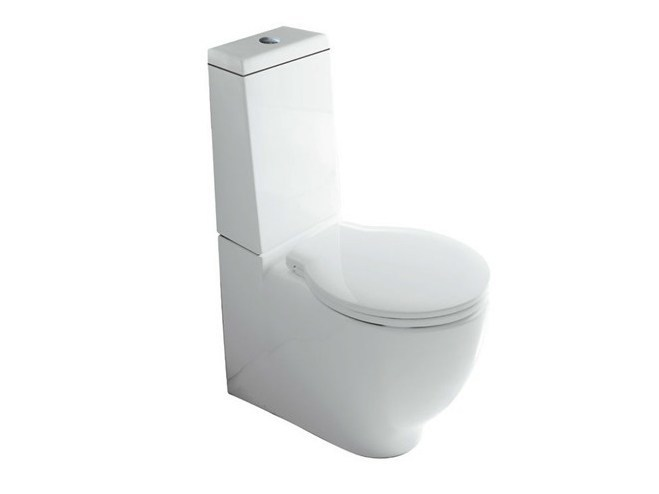 Close coupled ceramic toilet ERGO | Close coupled toilet - GALASSIA