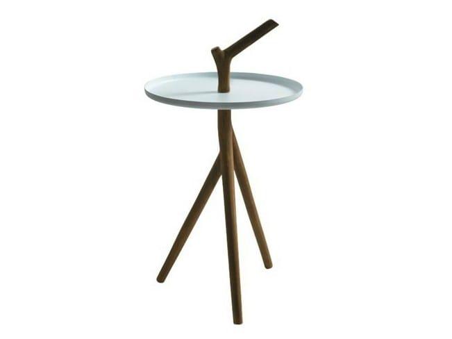 Round iroko coffee table ERGO | Coffee table - GALASSIA
