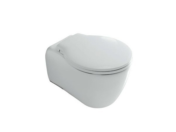 Wall-hung ceramic toilet ERGO | Wall-hung toilet by GALASSIA