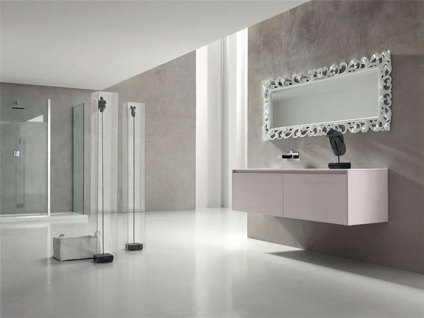 Single wall-mounted vanity unit ESCAPE - COMPOSITION 18 - Arcom