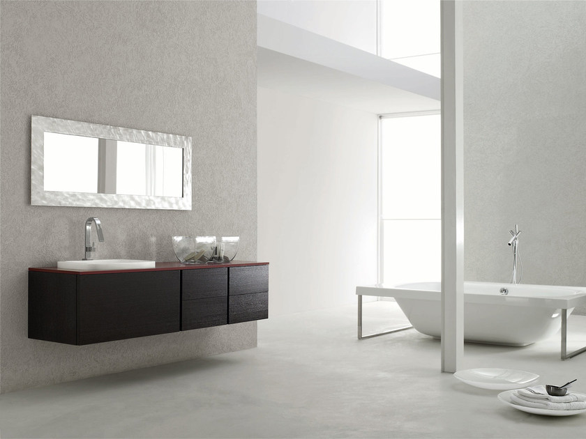 Single wall-mounted vanity unit ESCAPE - COMPOSITION 2 - Arcom