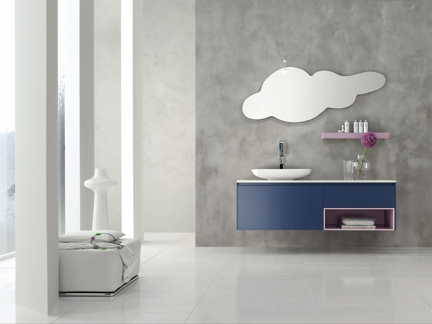 Single wall-mounted vanity unit ESCAPE - COMPOSITION 22 - Arcom