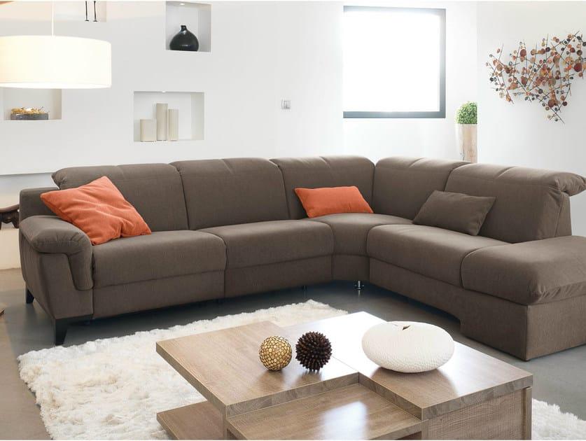 Corner upholstered fabric sofa ESPERIA | Corner sofa by GAUTIER FRANCE